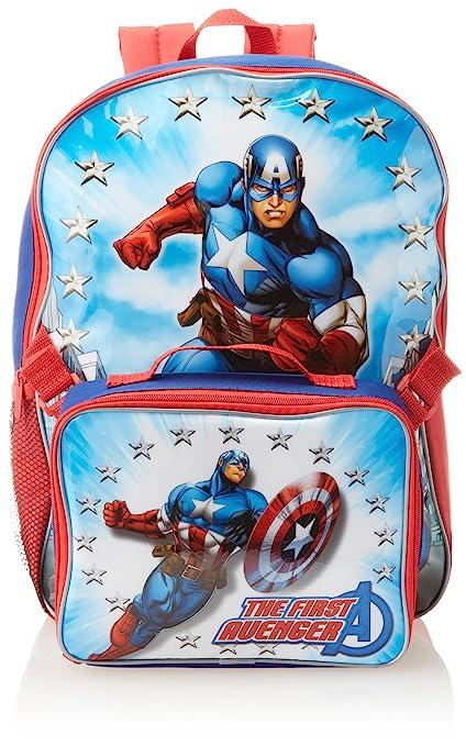 Marvel Little Boys' Avengers Captain America Backpack