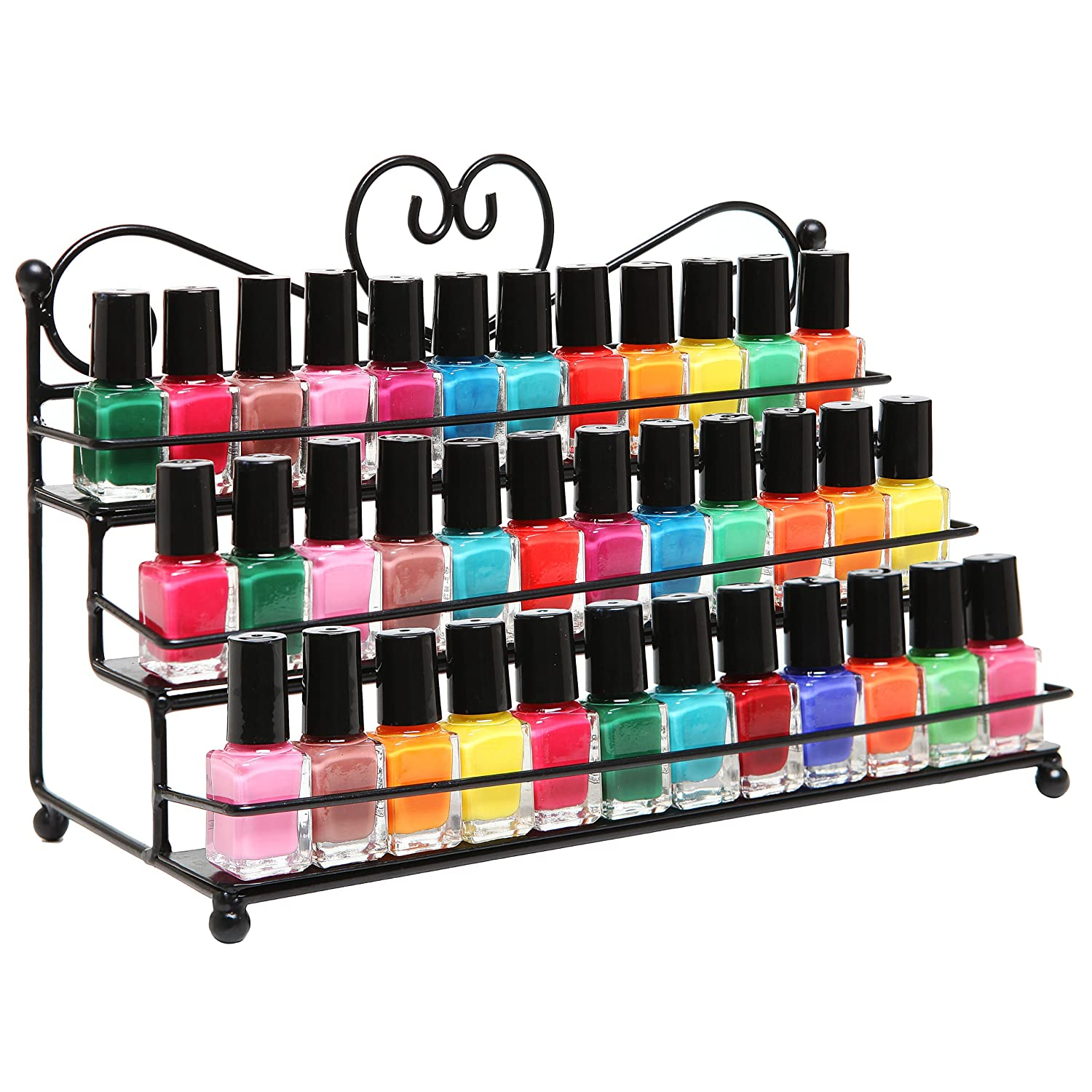 Nail Polish Table Top Organizer Display Rack Holder Metal