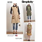 Simplicity 8230 Women's Reversible Apron Dress Sewing Pattern, 2 Styles, Sizes XS-XL (Tamaño: Sizes XS-XL)