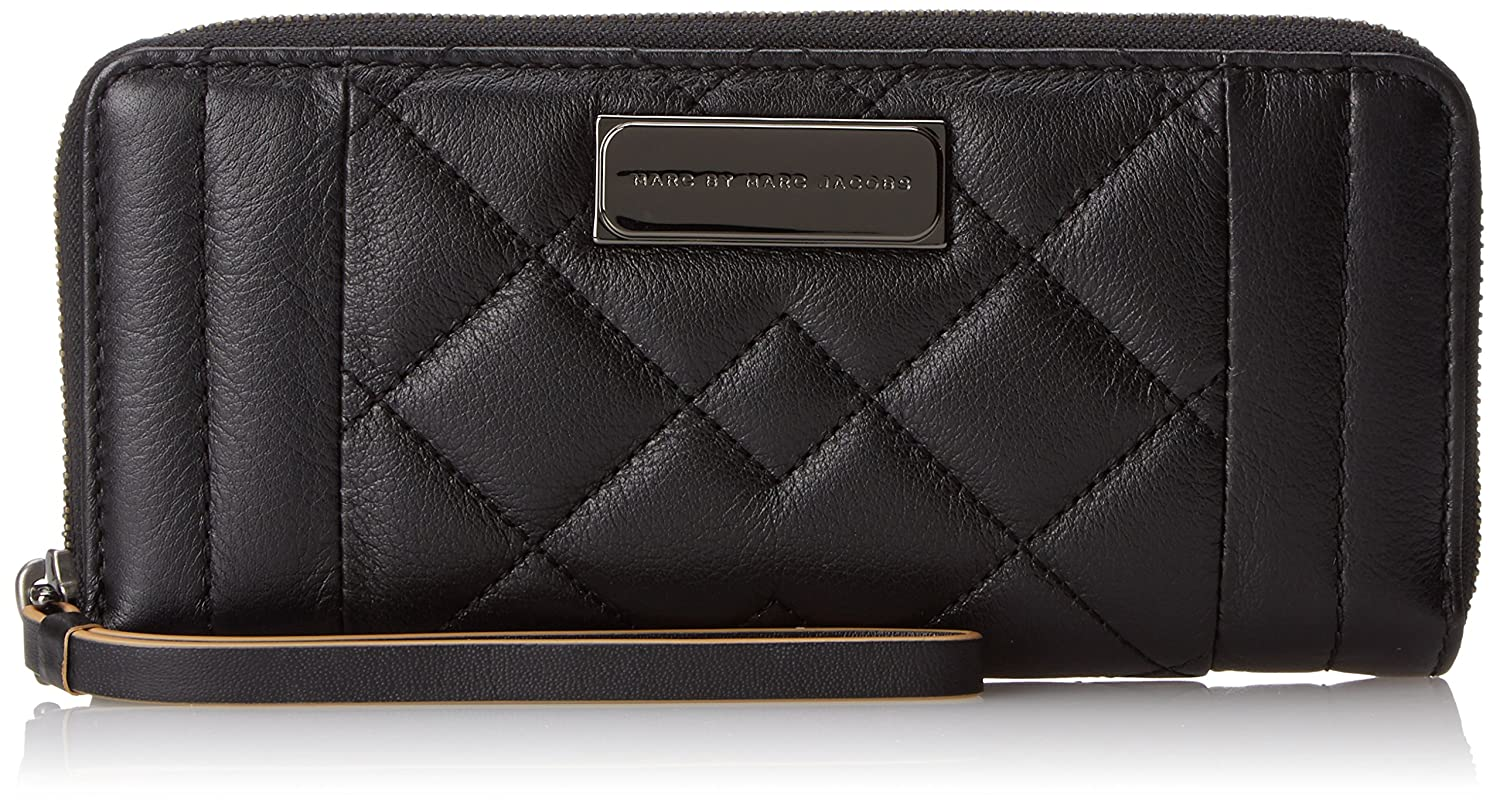 Marc by Marc Jacobs Moto Quilted Slim Zip-Around Wallet marc by marc jacobs sophisticato jerrie rose wingman wallet
