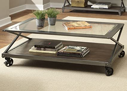 Avignon Rectangular Rustic Coffee Table