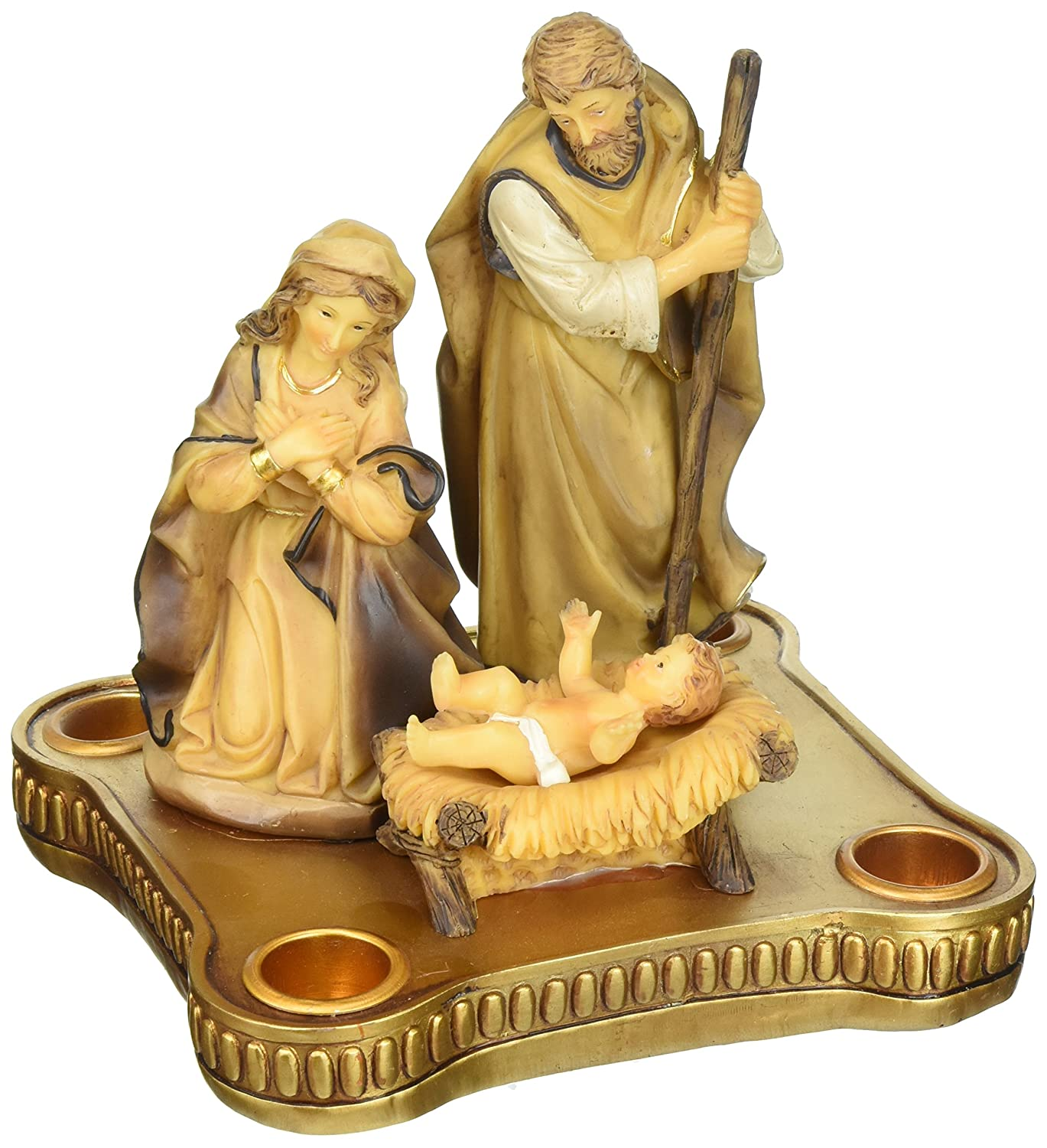 Advent Candle Holder With Nativity