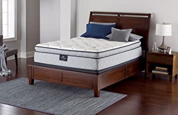 Serta Perfect Sleeper Edinburgh Super Pillow Top Mattress Hyrbid Gel Innerspring (Queen)