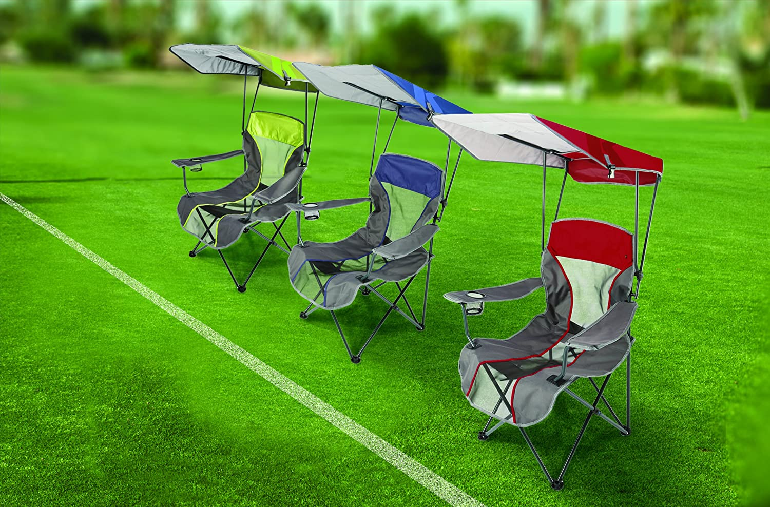Portable Chair With Canopy : Camping chair canopy outdoor patio beach sports event