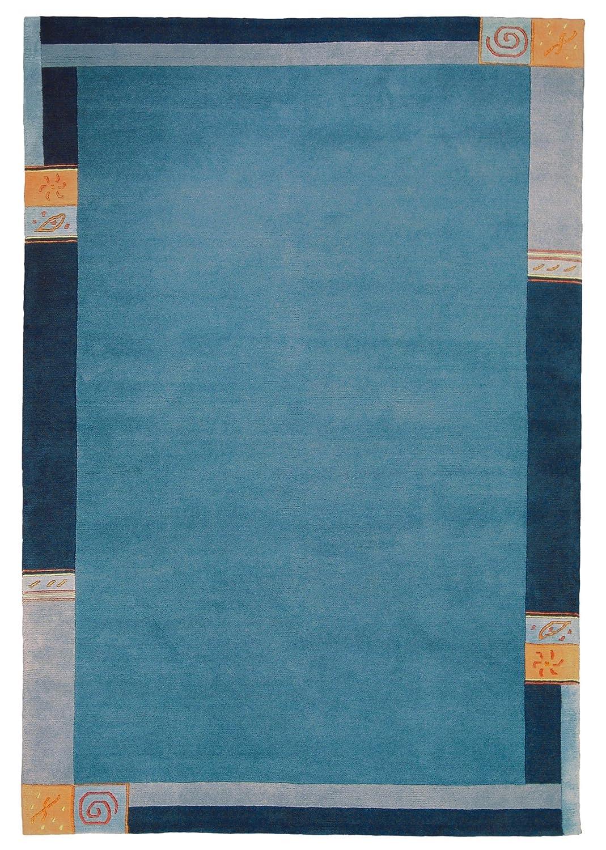"""TEPPICHWELT SONA-LUX Nepal Teppich handgeknüpft blau """"Größe auswählen"""" 170 x 240 cm"""