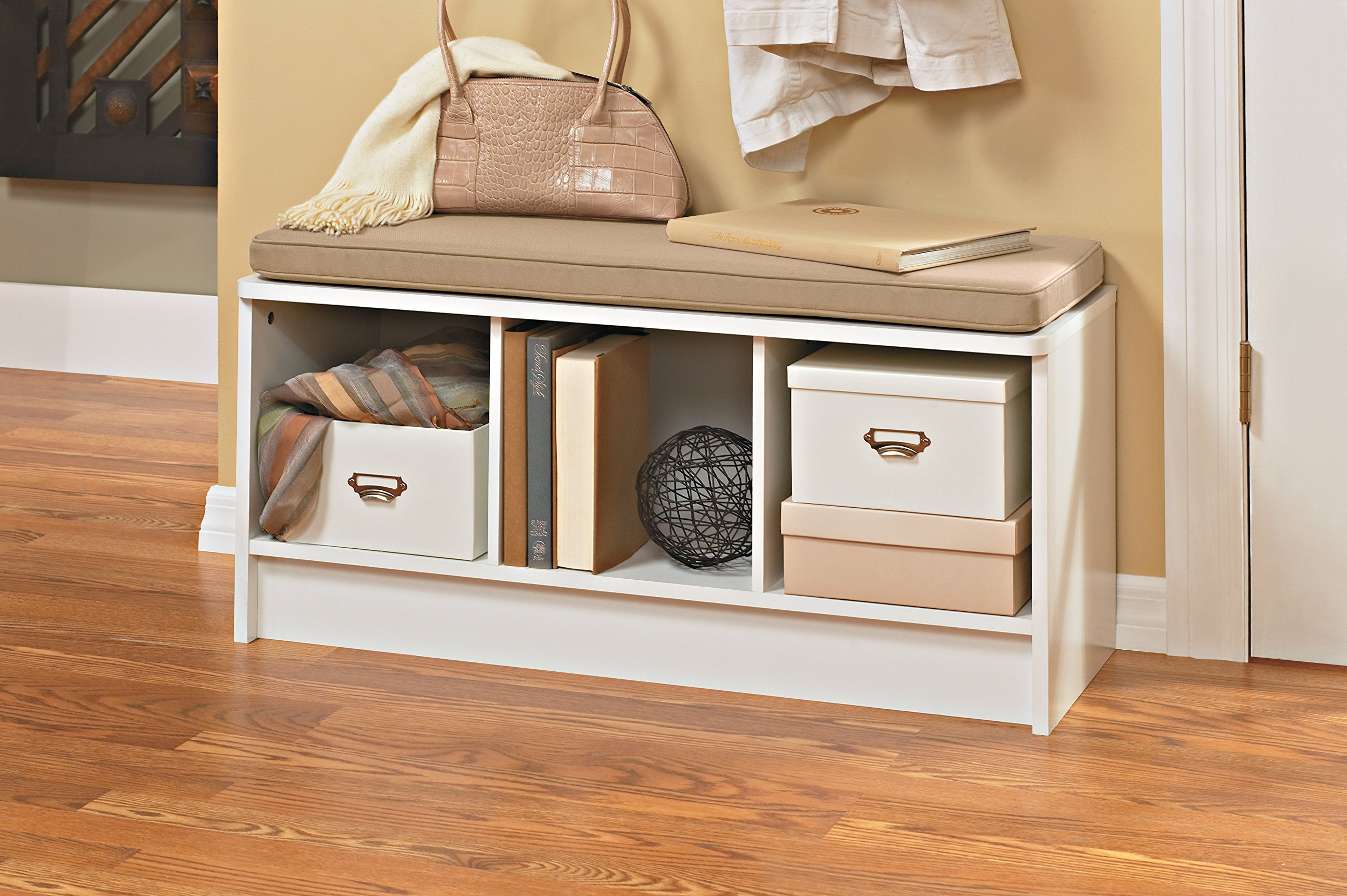 Closetmaid 1569 Cubeicals 3 Cube Storage Bench White Ebay