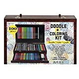 Art 101 Doodle & Coloring Wood Art Set (100 Piece)
