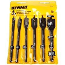 DEWALT DW1587 6 Bit 3/8-Inch to 1-Inch Spade Drill Bit Assortment