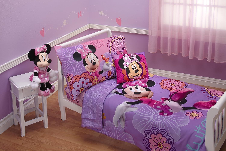 Disney Minnie Mouse Fluttery Friends 4 piece Toddler Bedding Set-purple at Sears.com