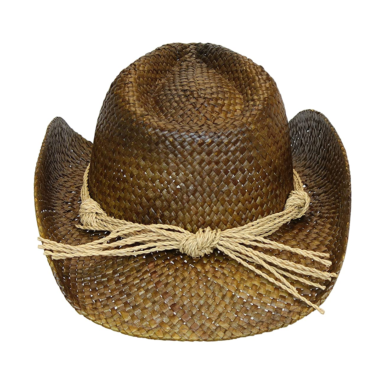 Western Seagrass Straw Cowboy Hat – Cute Vintage Cowgirl Hat w/ Flower 3