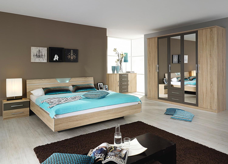 rauch Schlafzimmer Valence,4-teilig Eiche Sonoma/lavagrau Eiche Sonoma/lavagrau kaufen