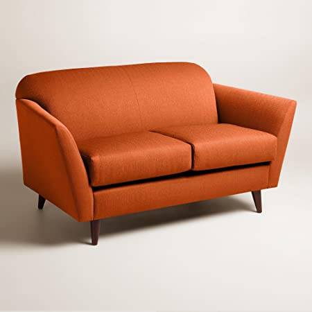 Textured Woven Jorna Upholstered Love Seat - World Market