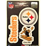 NFL Pittsburgh Steelers Team Decal, 3-Pack