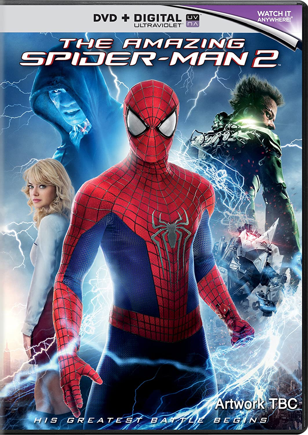 the amazing spider man 2 dvd blu ray cover and details. Black Bedroom Furniture Sets. Home Design Ideas