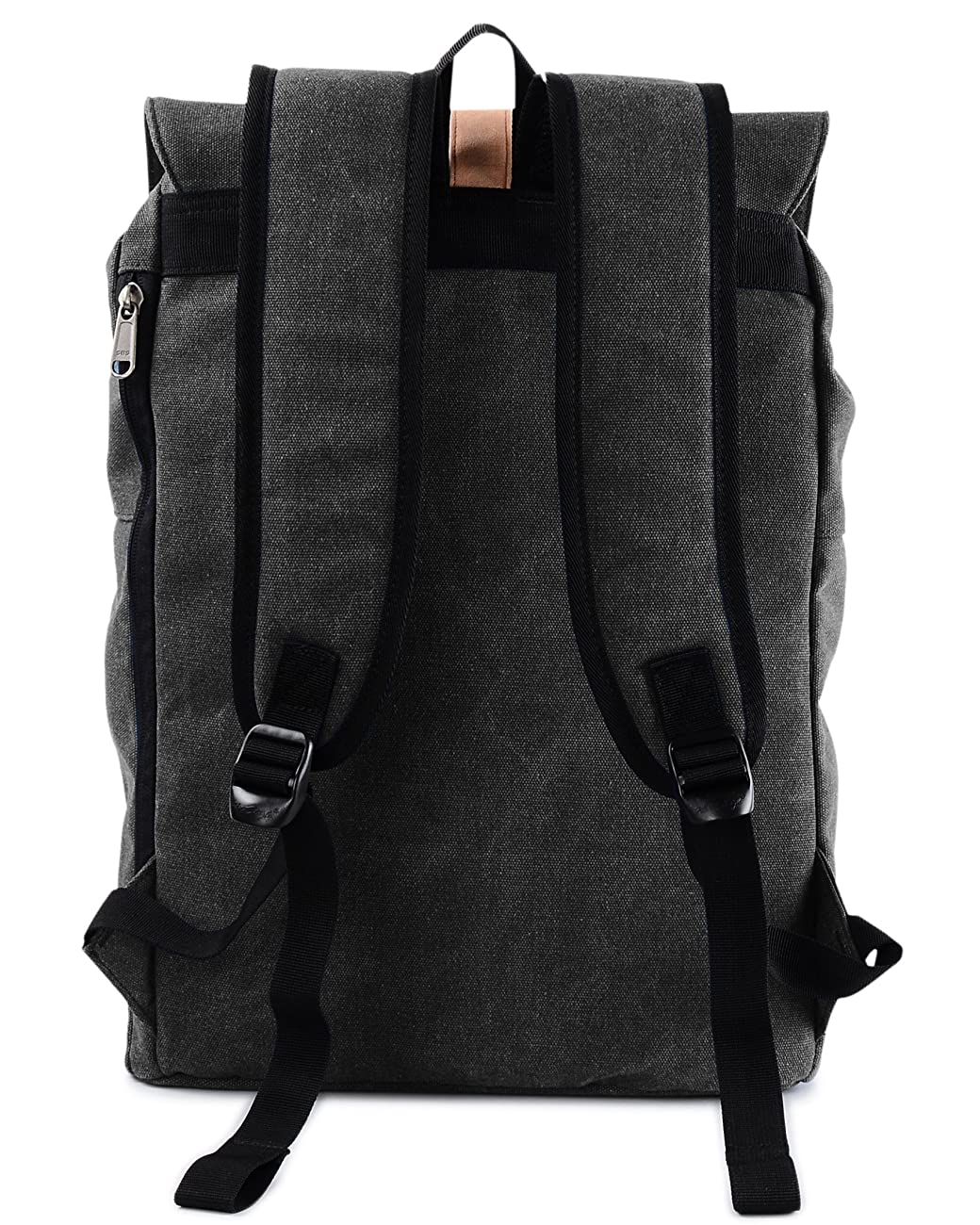 Vintage Canvas Backpack - HotStyle Waterpoof Travel Rucksack Fits 15.6 inch Laptop - Black 1