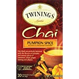 Twinings of London Pumpkin Spice Chai Tea Bags, 20 Count (Color: Clear, Tamaño: 20 Count)