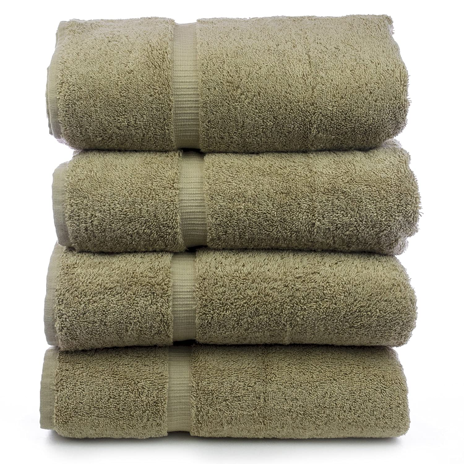Luxury Hotel & Spa Bath Towel 100% Genuine Turkish Cotton, Set of 4 (Driftwood)