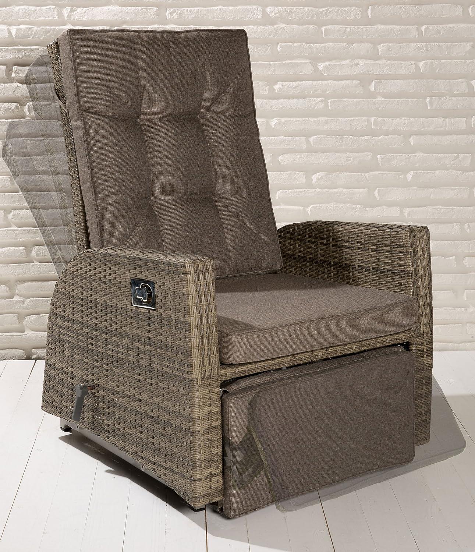 Luxus XL Rocking Chair Monte-Carlo Gartensessel mit Fußteil Rückenlehne Auflage günstig bestellen