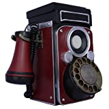 TechPlay CP28 Classic rotary dial, old fashion camera design, Phone (Color: Camera Box)