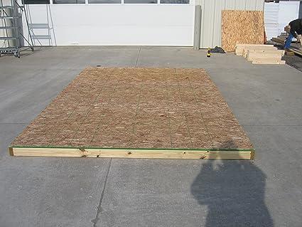 Shed Floor Kit Floor Kit 8 x 12 Shed Diy Kit