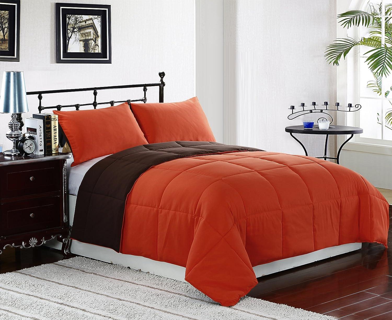 Orange bedding sets beautiful bedroom for Bedroom designs orange and brown