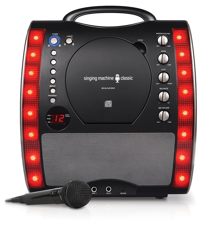 Singing Machine SML343BK Karaoke Machine - Black