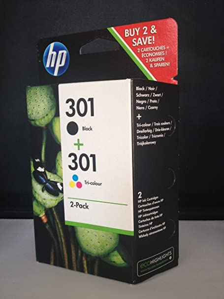 HP - Hewlett Packard DeskJet 2050 a (301 / CR 340 EE) - original - 2 x Printhead multi pack (black, cyan, magenta, yellow) - 355 Pages