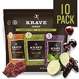 KRAVE Jerky Variety Pack, 10 Count, Beef & Pork (Tamaño: Pack of 10)
