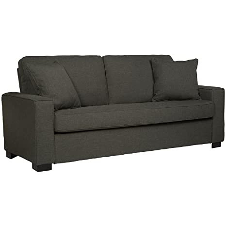 Handy Living MNA-S1-LIN17 Millona SoFast Sofa, Smoky Charcoal Gray