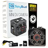Spy Bud HD Hidden Mini Spy Camera SQ8 - Portable Motion Detection - Night Vision - 1080P - With 8GB SD Card, memory Card Adapter & Card Reader