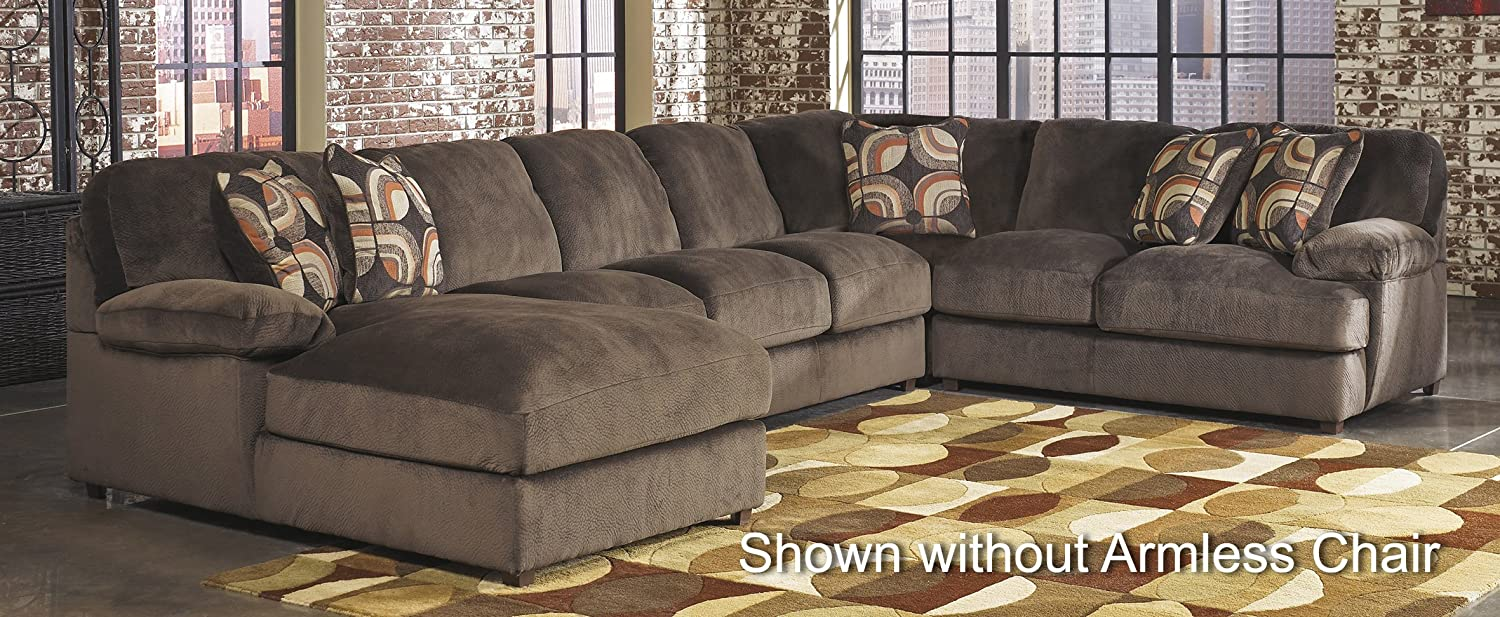 Signature Design by Ashley 871035PCSECL Truscotti 5-Piece Sectional Sofa with Left Arm Facing Chaise - Armless Sofa