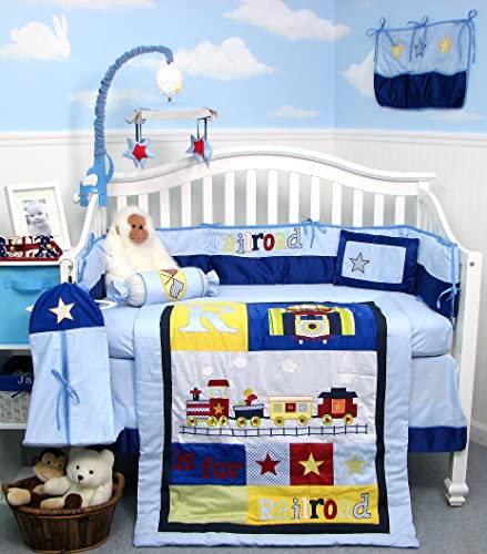 Train Crib Bedding