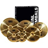 "Meinl Cymbals Super Set Box Pack with 14"" Hihats, 20"" Ride, 16"" Crash, 18"" Crash, 16"" China, and a 10"" Splash – HCS Traditional Finish Brass – Made In Germany, 2-YEAR WARRANTY (HCS-SCS)"