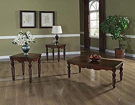 Standard Furniture Kensington 3 Piece Coffee Table Set In Warm Cherry