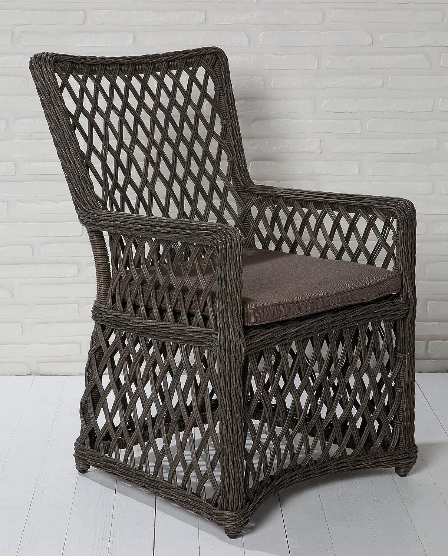 6x Hochwertiger Polyrattan Gartenstuhl Sessel Rattan Stuhl Gartenstühle Gartenmöbel Gartensessel Loungesessel Relaxsessel Positiosstuhl Gartenstühle Balkonstuhl online kaufen