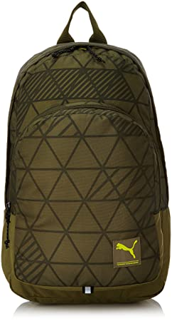 amazon puma burnt olive and factured camo casual backpack rs 919 60 off. Black Bedroom Furniture Sets. Home Design Ideas