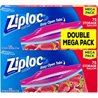 150-Count Ziploc Storage Bags Gallon Mega Pack