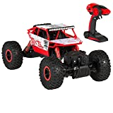 Best Choice Products 2.4Ghz 4WD RC Rock Crawler Monster Truck Toy Car w/ Charger, Rechargeable Batteries - Red/Black (Color: Red)