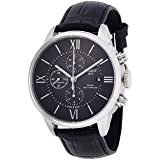 Tissot Men's 'T-Classic' Swiss Automatic Stainless Steel and Leather Casual Watch, Color Black (Model: T0994271605800) (Color: black)