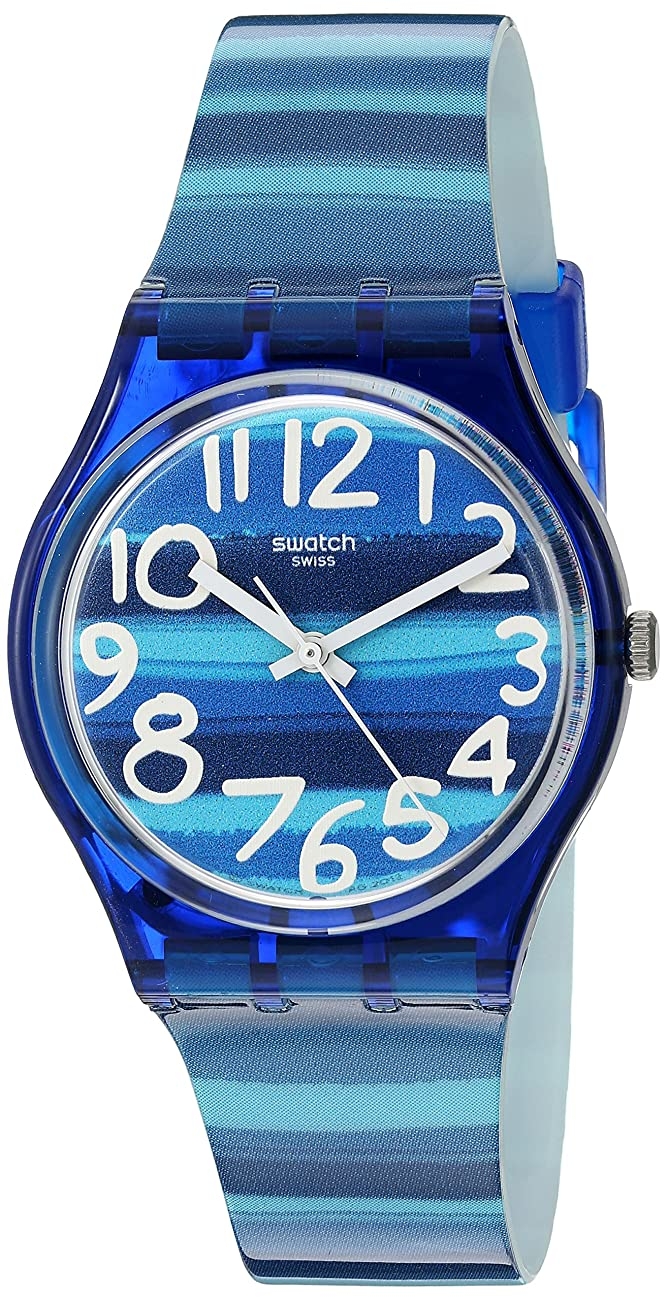 Swatch Unisex GN237 Blue Plastic Watch 0