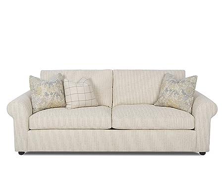Klaussner Drake Sofa, Ivory/Ash/Natural