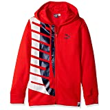 PUMA Big Boys' Full-Zip Fleece Hoodie, Ribbon red, S (Color: Ribbon Red, Tamaño: Small)