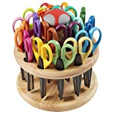 ECR4Kids Kraft Edgers Craft Scissor Set - Decorative Paper Edger Scissors with with Rotating Stand - For Kids, Teachers, Scrapbookers, DIY Projects (18 Pairs) (Color: Multicolor, Tamaño: 18-Piece Set)