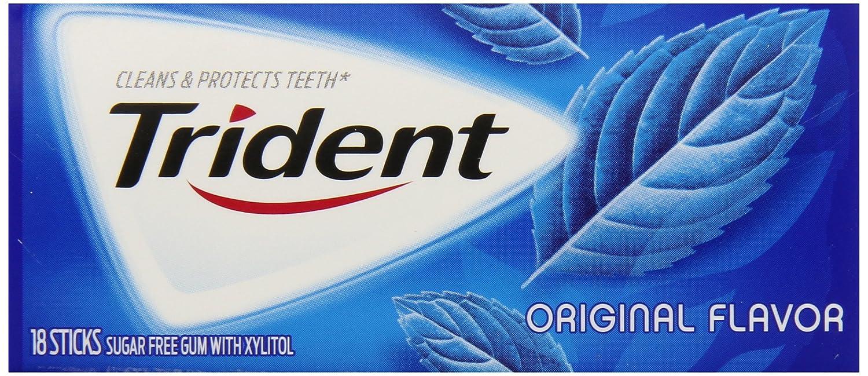 Trident Gum, Original Flavor, 18-Count (Pack of 12)