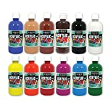 Sargent Art (SARAD) 24-6101 16oz Acrylic Paint Assortment, 12 Colors, Bottles (Color: Assorted, Tamaño: 16oz Bottles)