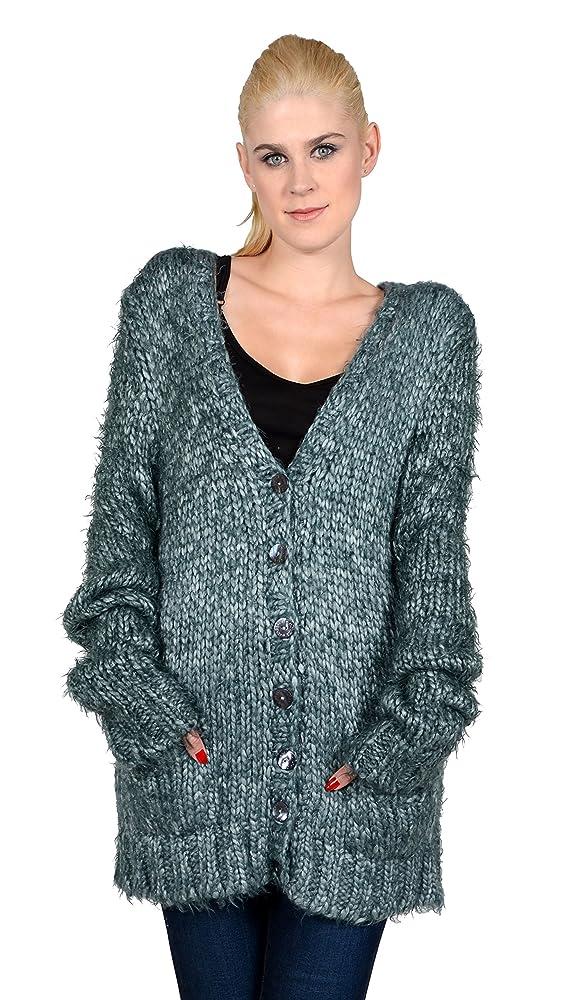 Dolce Gabbana Womens Mohair Blend Cardigan Dark Green