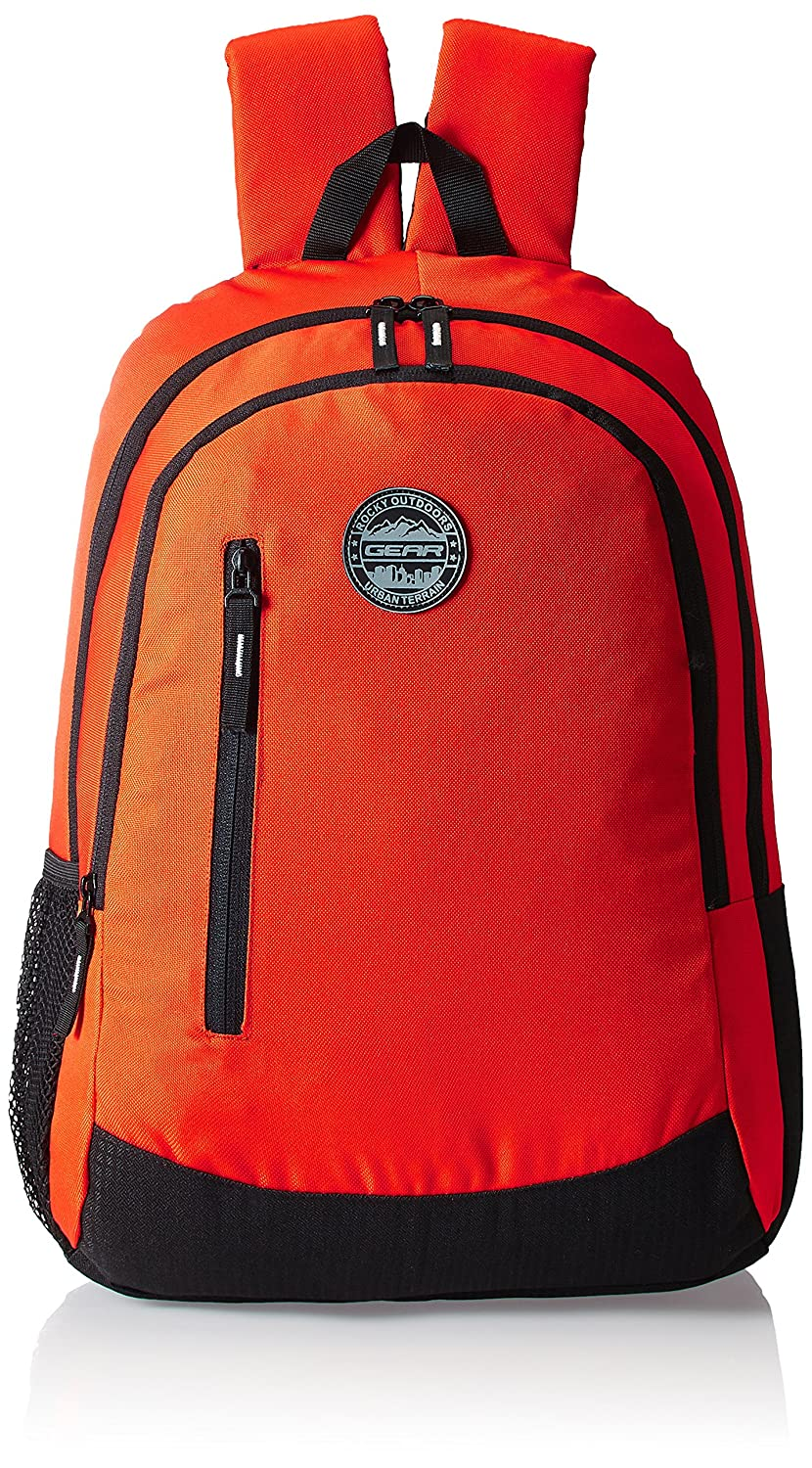 Amazon: GEAR Orange and Black Casual Eco Backpack 4 @ Rs.494/-