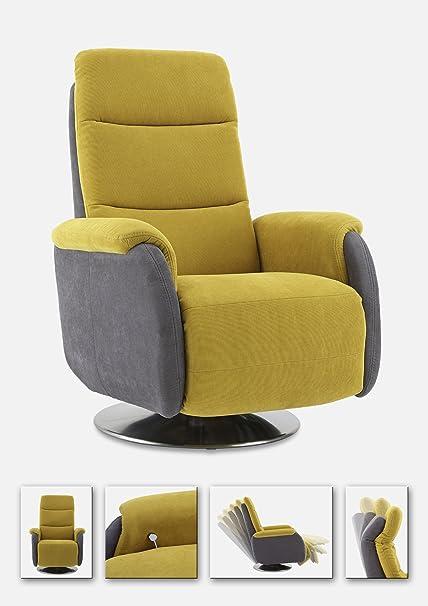 Sessel gelb/ grau