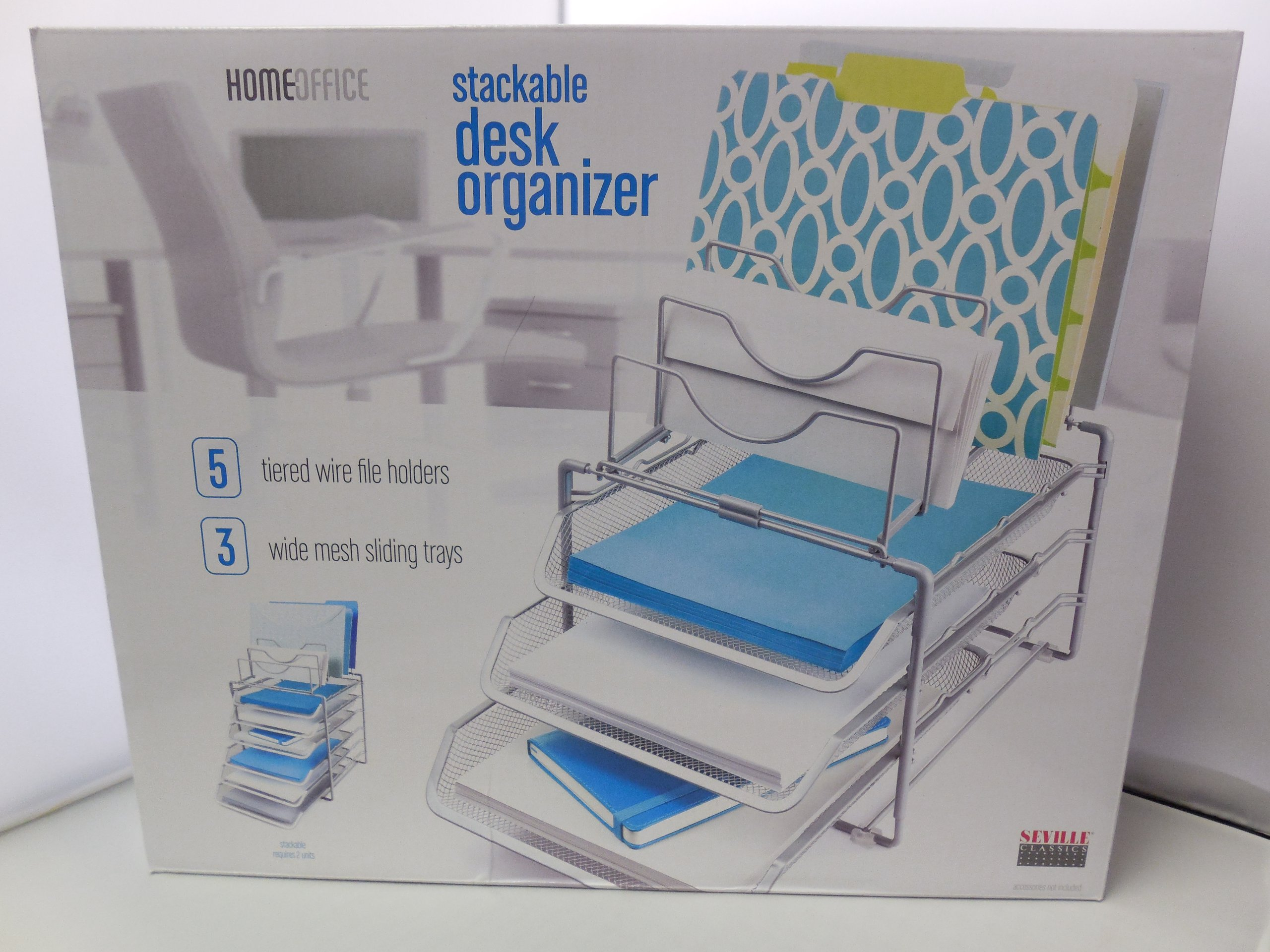 Home office stackable desk organizer kitchen ebay - Stackable 20desk 20organizer ...