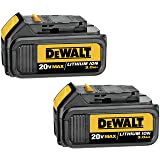 DEWALT 20V MAX Battery, Premium 3.0Ah Double Pack (DCB200-2)